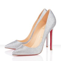 Christian Louboutin Pigalle 120mm Silver Outlet