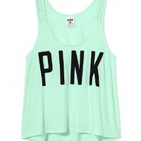 Lace Strap Yoga Tank - PINK - Victoria&#x27;s Secret