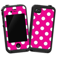 "Amazon.com: White Polka Dot on Hot Pink ""Protective Decal Skin"" for LifeProof 4/4S Case: Electronics"