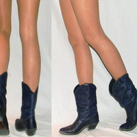  blue crop cowboy roper boots
