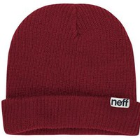 Neff Fold Beanie Maroon One Size For Men 19858532301
