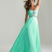 WowDresses  Stunning A-line Sweetheart Floor Length Prom Dress with Rhinestones