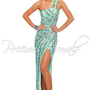 Precious Formals P8819 Mint Sequin Prom Dress