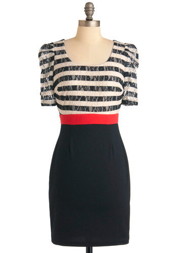 Stripe Place, Stripe Time Dress | Mod Retro Vintage Dresses | ModCloth.com