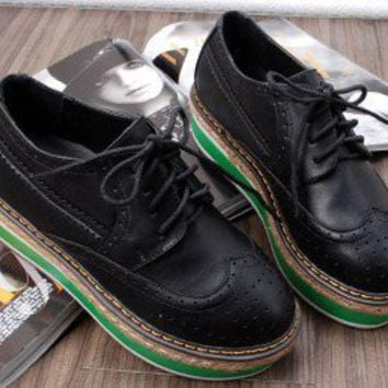 black clipper platform oxford shoes  by richbong on Sense of Fashion