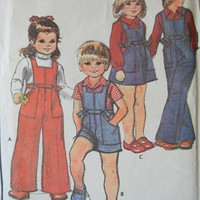 Toddler Pattern, Jumper Jumpsuit Shirt Hat, McCalls 5228 Uncut, 1976