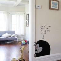 Blik Wall Decals: Don't Let Your Cat Near This Dude