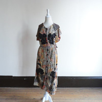 90s dress / grunge dress / ethnic dress / short sleeved dress