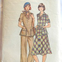 Butterick Pattern 4798, Women&#x27;s Safari Dress Suit, 14 1/2 or 16 1/2