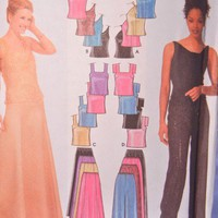 Simplicity Pattern 9833 Formal Prom Dress Separates Misses 12 to 18