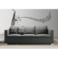 Amazon.com: Vinyl Wall Art Decal Sticker Saxophone w/ Music Notes, Big Sax #326: Everything Else