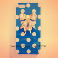Polka Dot Crystal Bow iPhone 5 Case