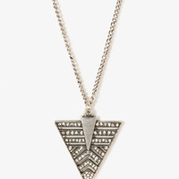 Geo Arrowhead Charm Necklace