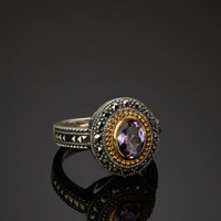 ideeli | JUDITH JACK Two-Tone Frame Ring