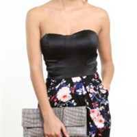 Cocktail Strapless Dress-Sophisticated Party Dresses