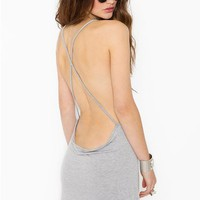 Criss Cross Tank - Heather Gray in  Clothes at Nasty Gal