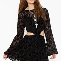 Blackbird Velvet Dress in  Clothes at Nasty Gal