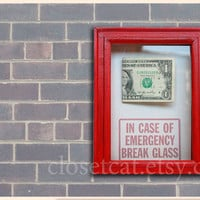 Last Dollar Gift Funny Birthday Gift Emergency Case by ClosetCat