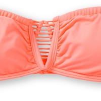 Rip Curl Safari Sun Neon Coral Bandeau Bikini Top