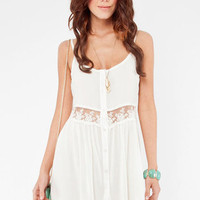 Daydreamin&#x27; Gauzy Tank Dress in Ivory ::Tobi