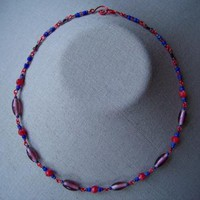 Red and Purple Necklace by AthomicArtandDesign on Zibbet