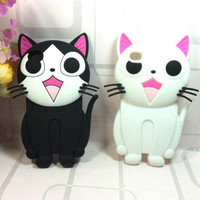 New 3D Cute Cat Silicone...