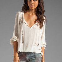 Ella Moss Stella Long Sleeve Blouse in Linen from REVOLVEclothing.com
