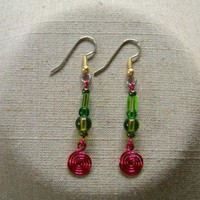 Fiesta Margarita Earrings by AthomicArtandDesign on Zibbet