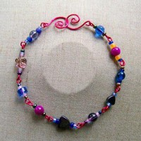 Fiesta BraceletAnklet by AthomicArtandDesign on Zibbet