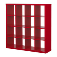 EXPEDIT Shelving unit - high gloss red