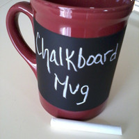 Chalkboard Mug  Large Maroon by WannaChalk on Etsy