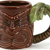 Tiki God Mugs Ceramic Hawaiian Mug Coffee Mugs RetroPlanet.com