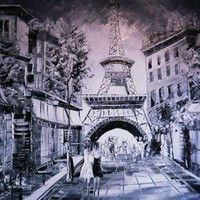 ParisOriginal Painting  Free shipping by Borettoart on Etsy