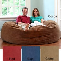 6-Foot Comfort Cloud Foam Bean Bag | Overstock.com