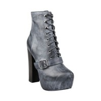 CARNABY BLACK LEATHER women's bootie high platform - Steve Madden