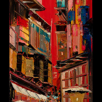 The old city  Original Painting by Borettoart on Etsy