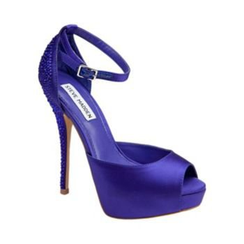 HADLEY-R PURPLE SATIN women's evening high peep toe - Steve Madden