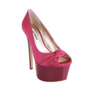 ERYKKA FUSCHIA SATIN women's dress high platform - Steve Madden