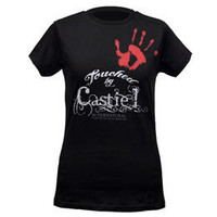 Supernatural Touched by Castiel Women's Fitted T-Shirt: WBshop.com - The Official Online Store of Warner Bros. Studios