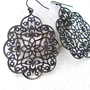 Filigree Earrings Dangle Earrings Oriental Jewelry by pearlatplay