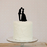 Custom Silhouette Wedding Cake Topper in Acrylic made from your photos by Simply Silhouettes