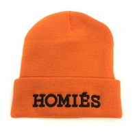 Women's Orange Homies Beanie by Brian Lichtenberg - ShopKitson.com