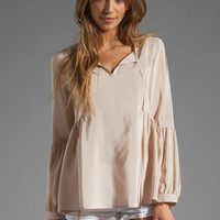 Amanda Uprichard Silk Willow Top in Bone from REVOLVEclothing.com