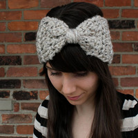 PDF PATTERN Crochet Headband Big Bow Ear Warmer DIY Headband
