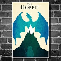 The Hobbit Lord of the Rings retro poster minimalist by Harshness