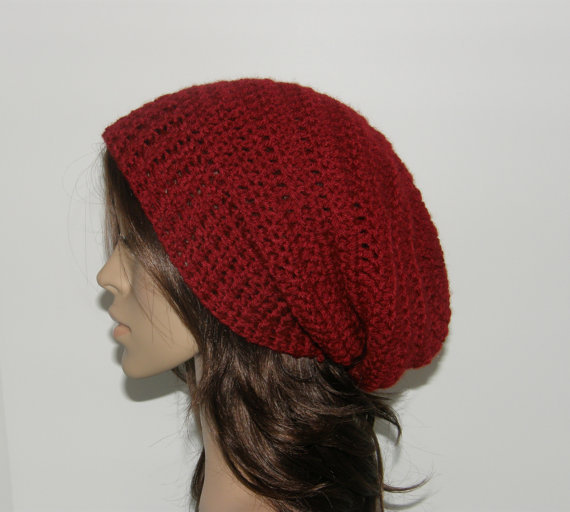 Everyday Extra Slouch Hat  Cranberry
