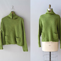slouchy sweater / 1980s sweater / Peridot sweater