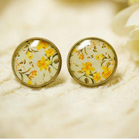 Bestgoods — Nice Yellow Flower Retro Earrings