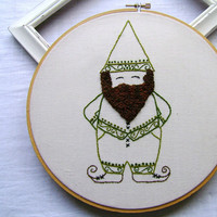 Embroidery PDF Pattern Old Fashioned Santa Gnome Elf | Luulla