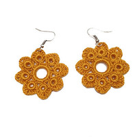 PDF Tutorial Crochet Pattern...Dangle Earrings -3
